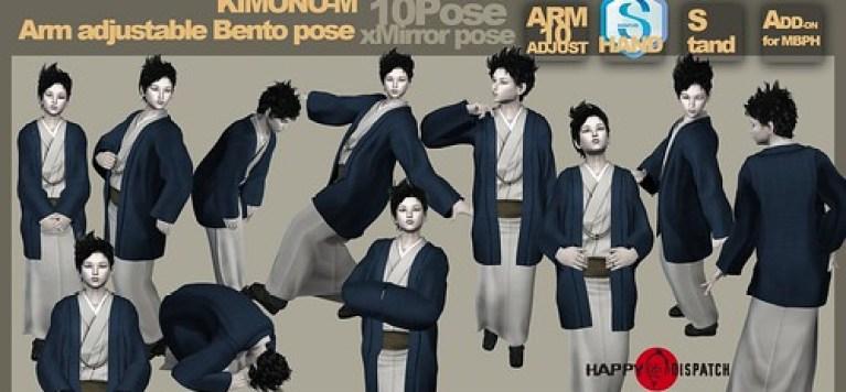 [HD]Bento pose KIMONO-M