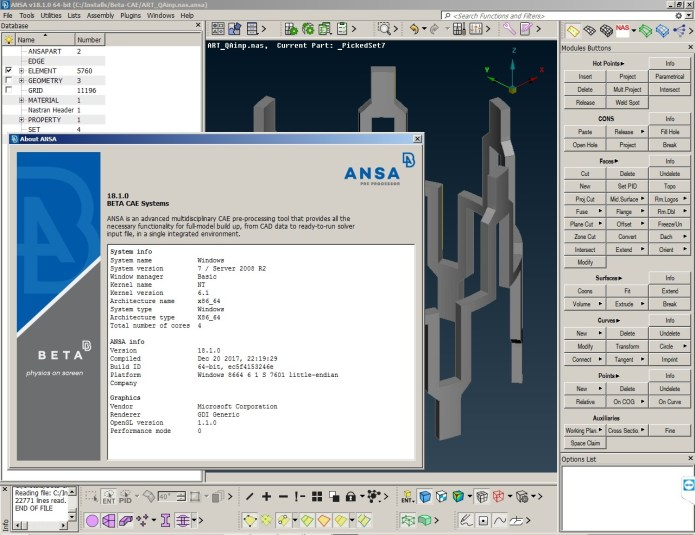 Download BETA CAE ANSA 18.1 full crack