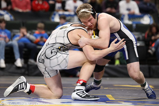 1st Place Match - Patrick Kennedy (Kasson-Mantorville) 30-0 won by decision over Dustin Dittrich (Plainview-Elgin-Millville) 38-6 (Dec 9-2). 180303CMC7178