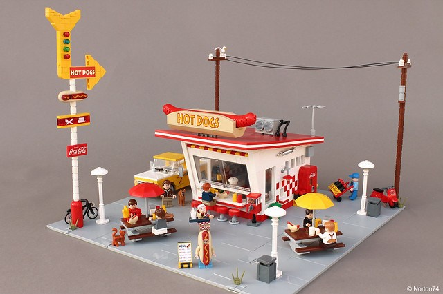 Hot Dog Stand Street food USA