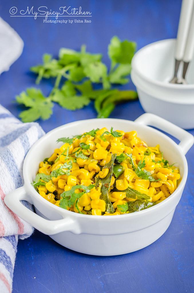Casserole of sauteed sweet corn