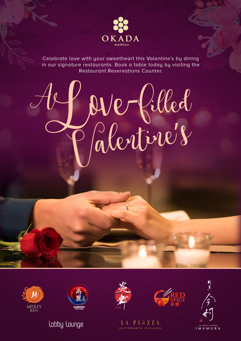 e3105eb741f9 Okada Manila is set to win hearts during this love-filled season with sweet  Valentine s offers for all. Guests are invited to take a romantic retreat  to ...
