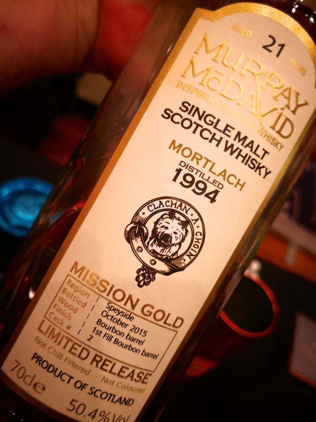 Murray McDavid Mortlach 21 Years Old