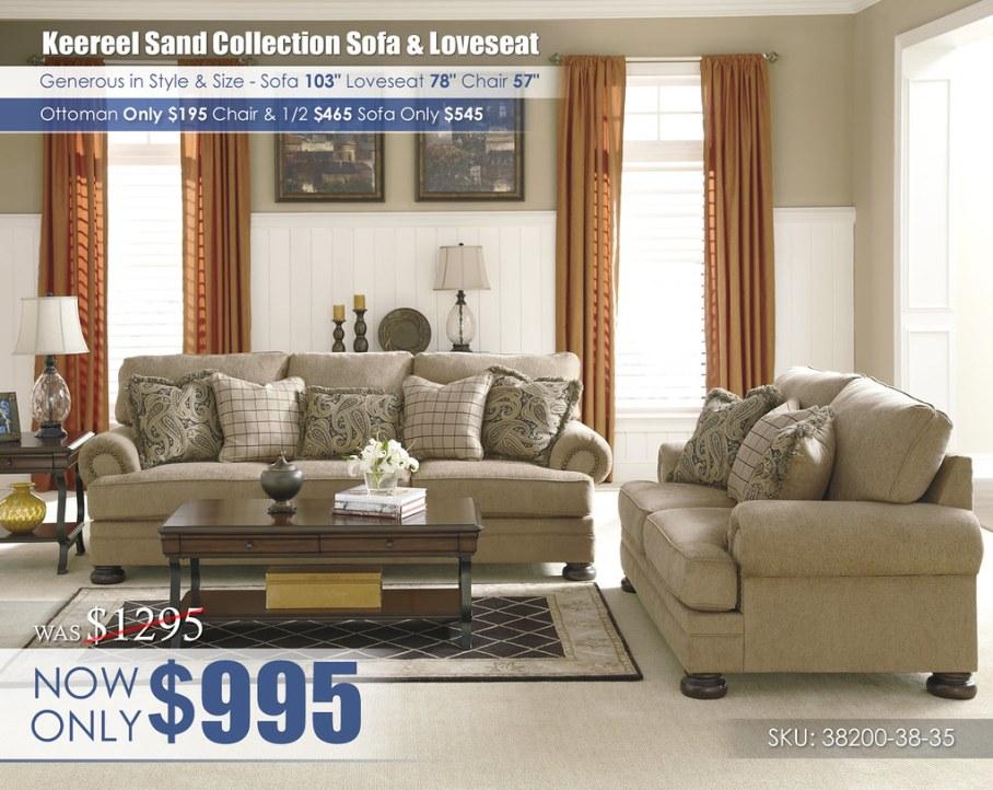Keereel Sand Living Room Set_38200-38-35-T636