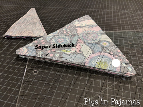 Tula Pink triangles and sidekick ruler