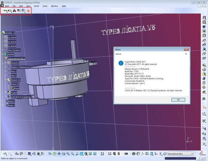 Working with Type3 CAA V5 Based 2017 (v5.5 B 17320) for CATIA V5R18-R27 x64 full