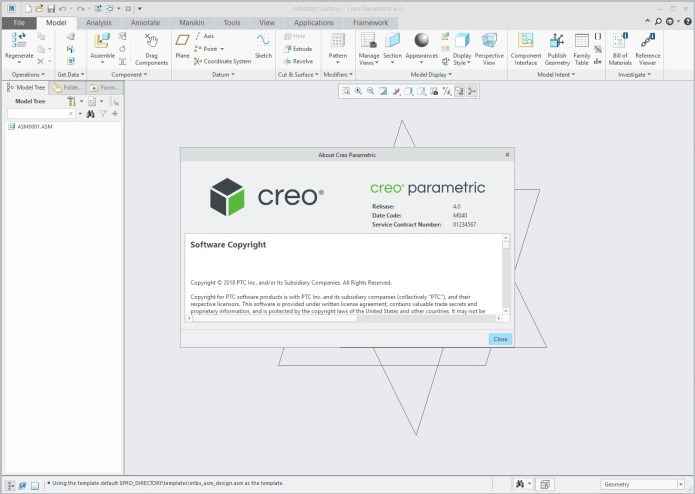 Working with PTC Creo parametric 4.0 M040 64bit full crack forever