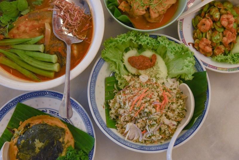 delicious nasi ulam at auntie gaik lean's