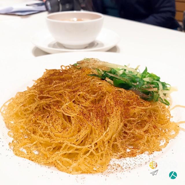 薑蔥蝦子撈麵