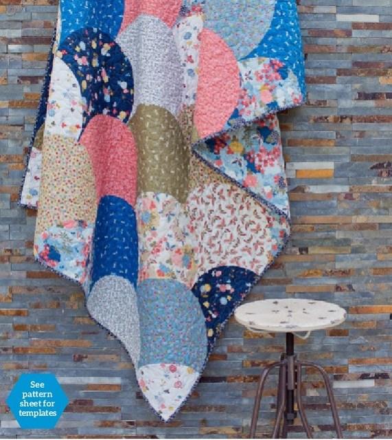 Oriental Clamshell Quilt (Popular Patchwork Quilt)