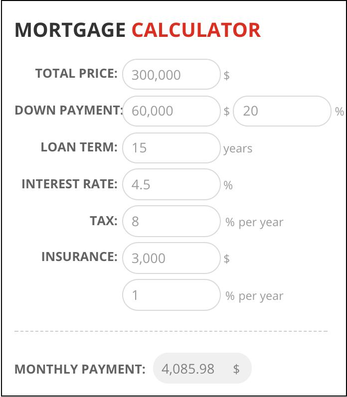 Mortgage Calculator RoloTC