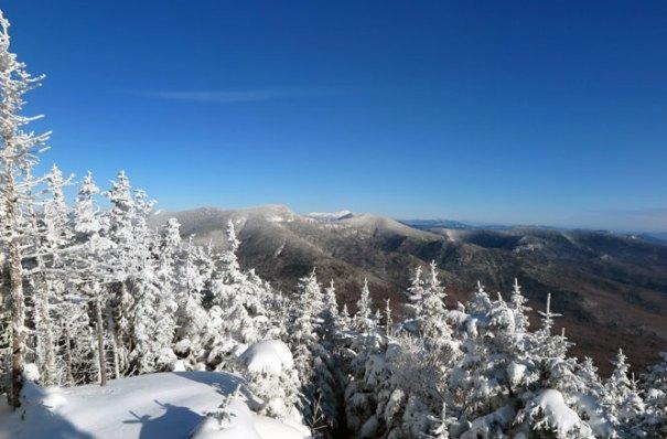 Mt. Tecumseh Winter Hike Summit Osceola View