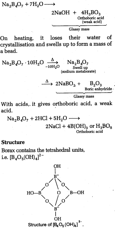 NEET Chemistry Notes p-Block Elements -Some Important ... B2h6 Lewis Structure