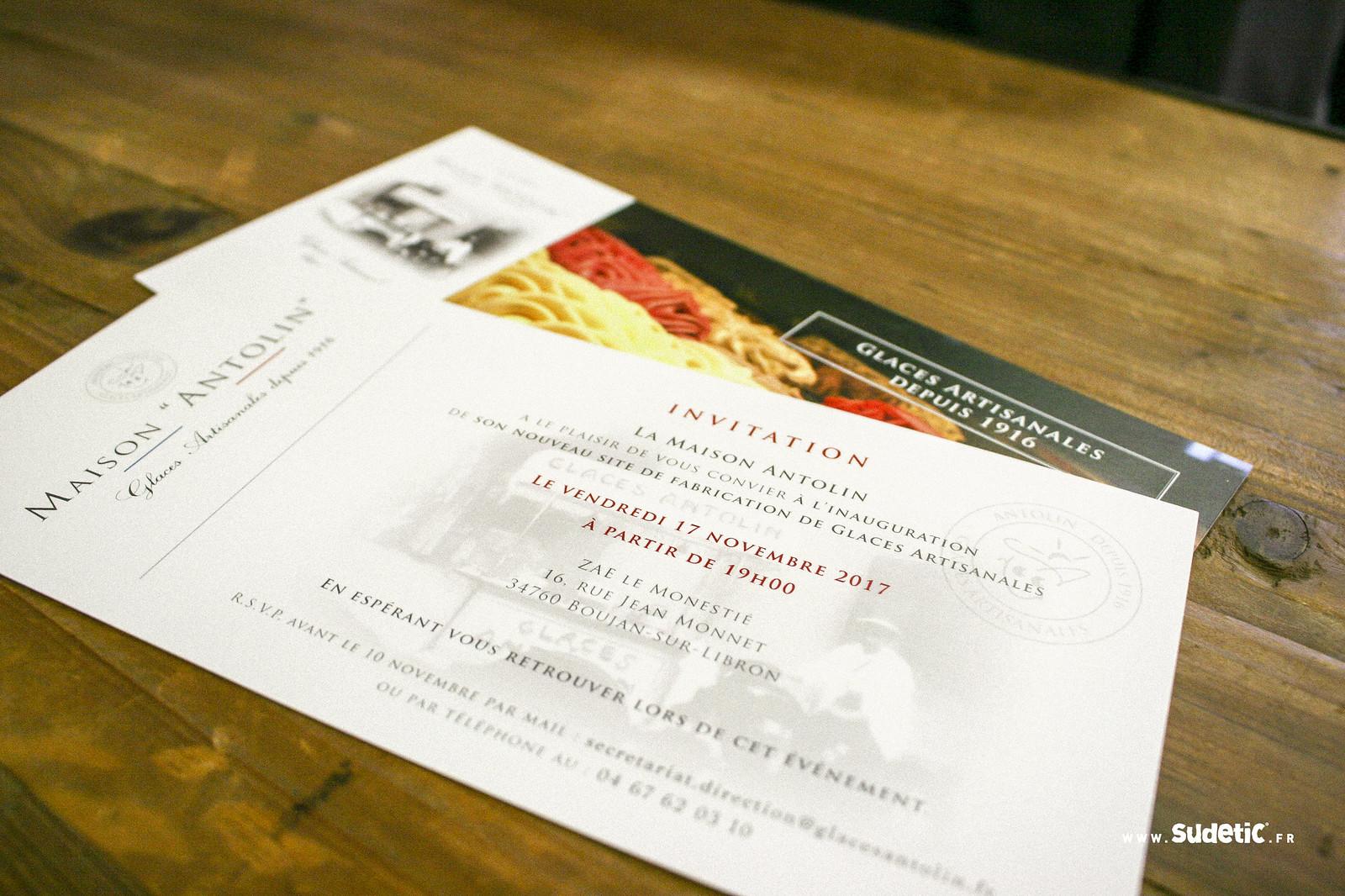 Sudetic cartes d'invitation Glaces Antolin-4