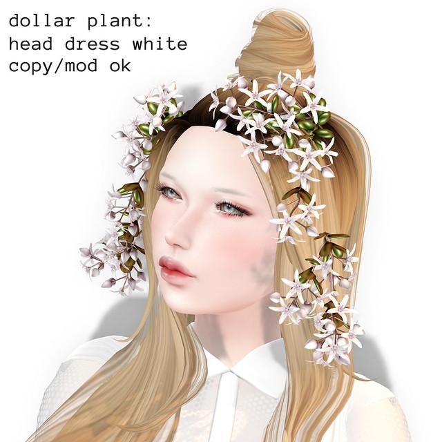*NAMINOKE*Dollar Plant HeadDress White