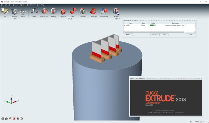 Working with solidThinking Click2Extrude 2018 full cracked