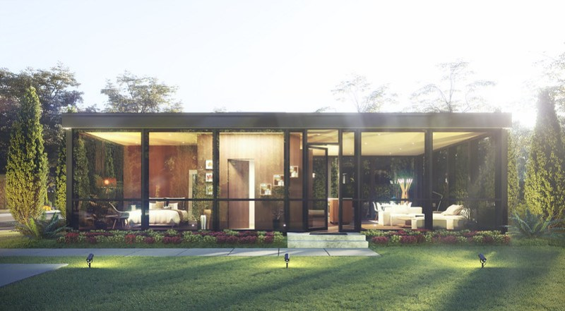 The Modular Glass House by Philip Johnson Alan Ritchie Architects