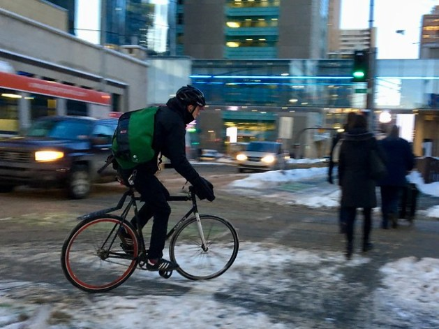 Winter Cycling in Calgary