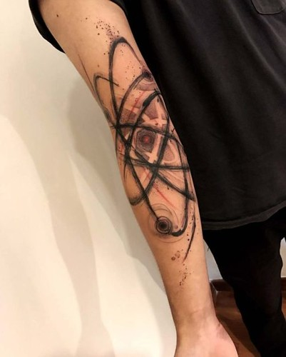 Atom Tattoo on Arm | Best Tattoo Ideas Gallery