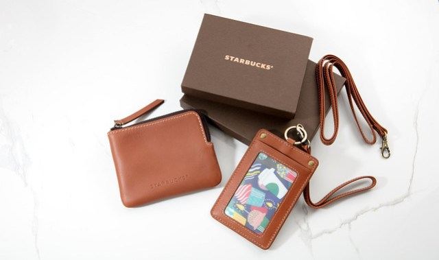 Starbucks_Leather Coin Purse & Card Holder with Lanyard