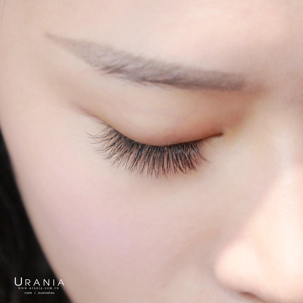 艾芙蒂亞 - 不同眼睛客人接睫毛效果「同根數(雙眼200根)」濃密比較 1