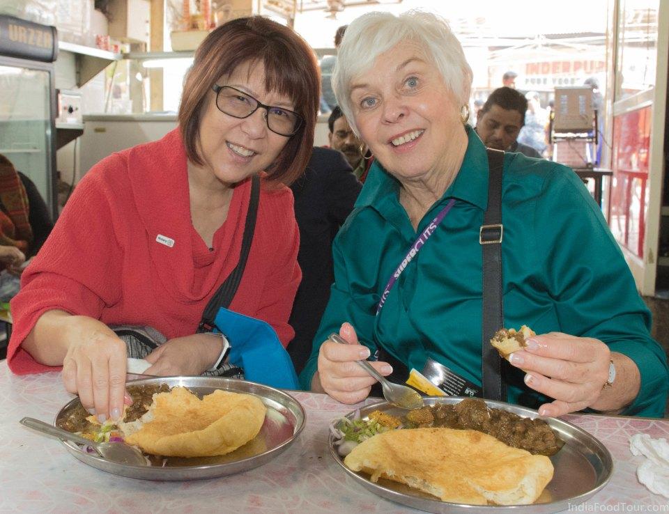 Tasting Choley Bhature, a signature dish of Delhi city