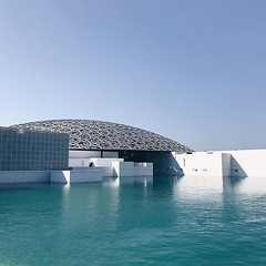 #louvre #architecture @visitabudhabi #inabudhabi #wanderlust #abudhabi #travel #guardiantravelsnaps #travelgram #travelphotography #vsco #vscocam #guardiancities #colours #blue #sky