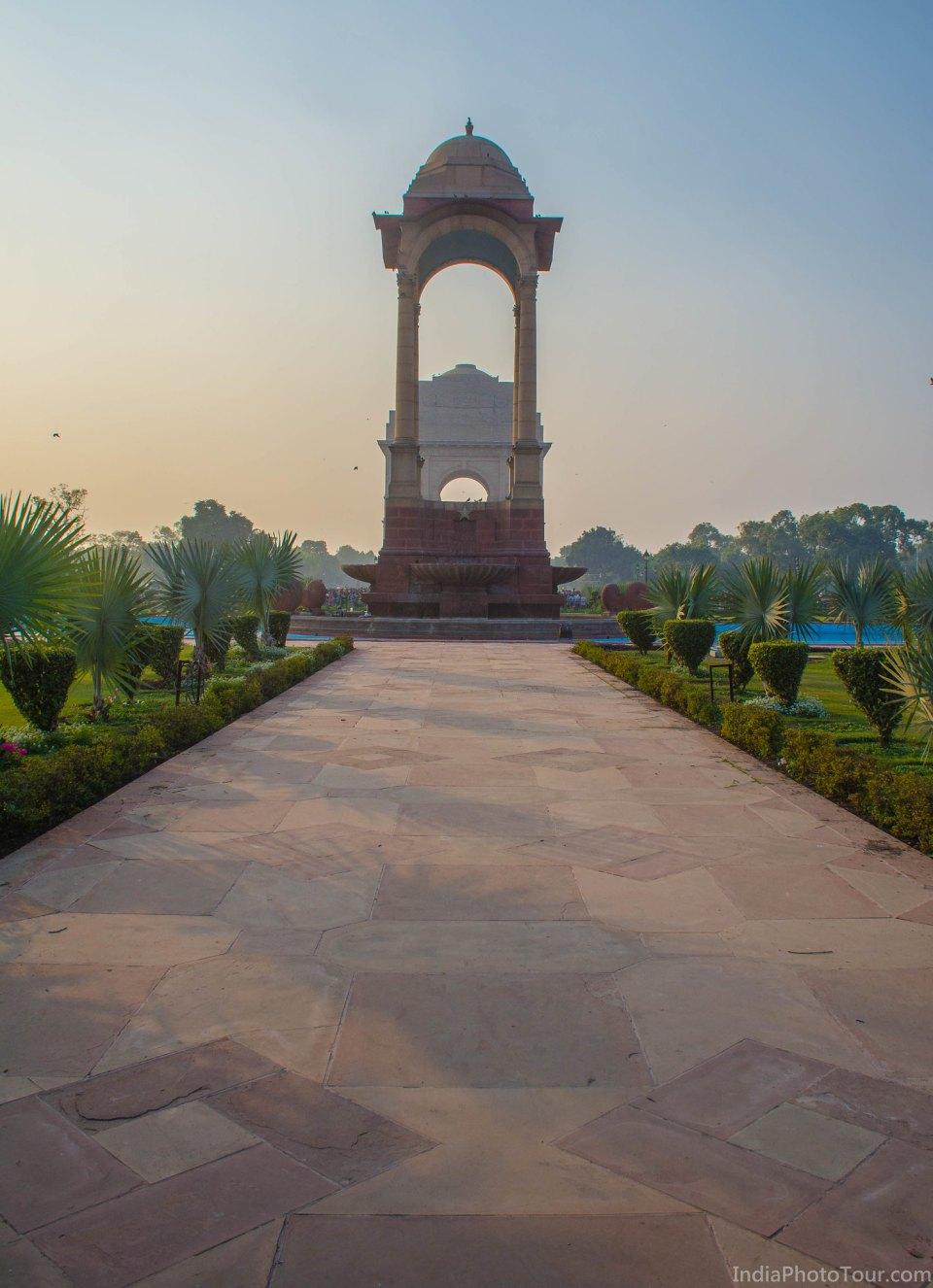 India Gate near sunset