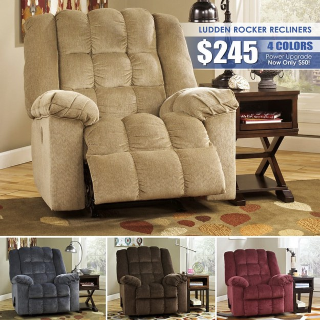 Ludden Rocker Recliner Collage