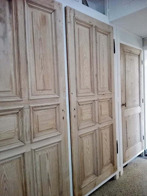 Oude deuren kastenwand, landelijk brocante