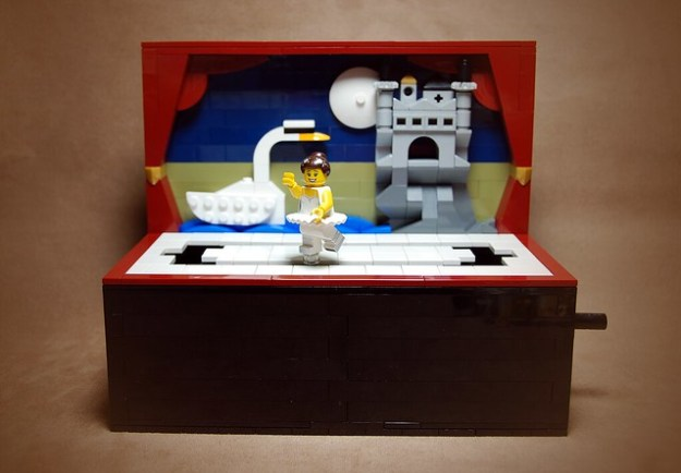 swan lake ballet automaton built from lego the brothers brick