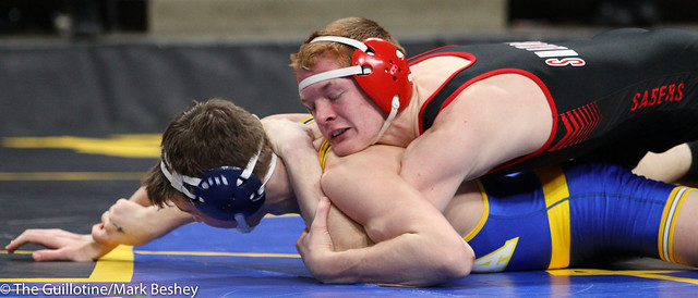 145 - Sam Webster (Shakopee) over Hayden LeMonds (St. Michael-Albertville) TF 19-3 - 180301cmk0135