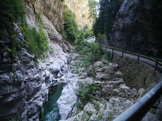 carretera hacia cañon de Añisclo