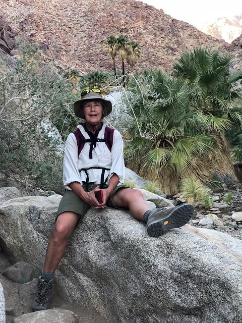 Borrego Springs - Linda on the rocks