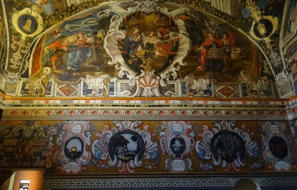 Pintura fresco nacimiento de Jesus Capilla de Santa Maria de Miraflores Cartuja Santa Maria Miraflores Burgos