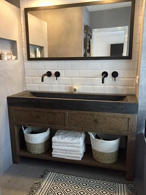 Badkamer landelijke stijl