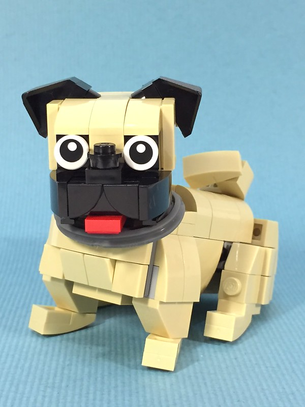 how to build a lego dog