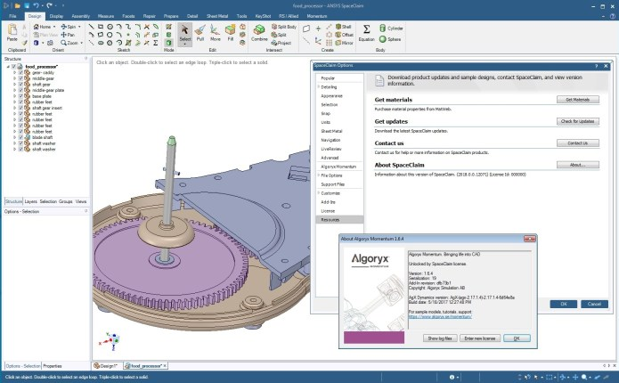 Working with ANSYS SpaceClaim + DesignSpark Mechanical v19.0 full license