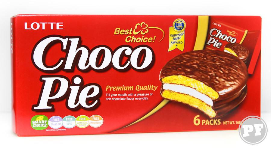 Choco Pie Tradicional da Lotte por PratoFundo.com