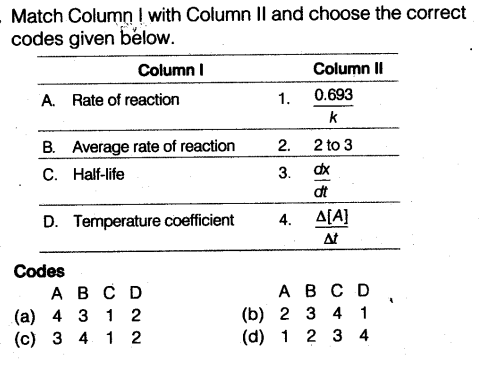 NEET Chemistry Chapter Wise Mock Test - Chemical Kinetics