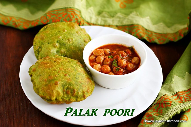 Spinach-poori recipe
