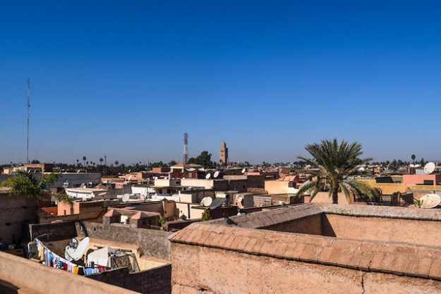 View of Koutoubia Mosque from El Badi