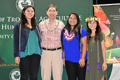 "Graduating Phi Upsilon Omicron (Family and Consumer Sciences honorary society) members with advisor Rick Caulfield at the college's convocation ceremony on December 8..  View more photos at CTAHR's Flickr site: <a href=""https://www.flickr.com/photos/ctahr/sets/72157690935002195/with/27241438299/"">www.flickr.com/photos/ctahr/sets/72157690935002195/with/2...</a>"