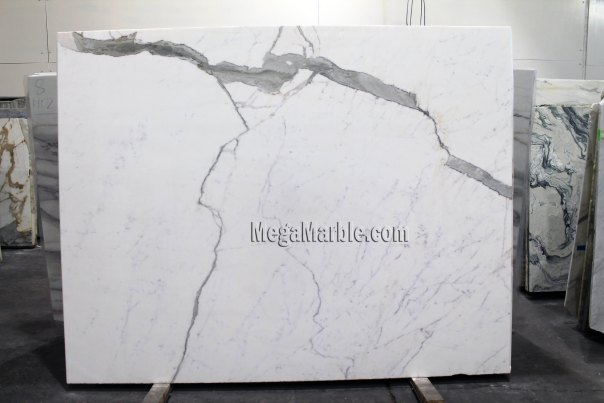 Statuario 2cm Polished marble slabs for countertops