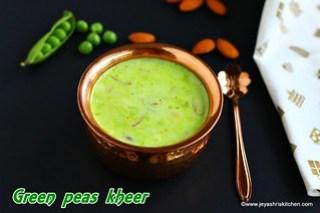 Green peas kheer