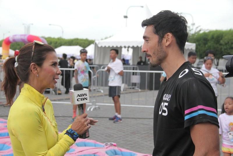 Dyan Castillejo interviewing Volcanoes' Everingham