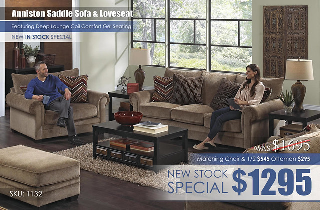 Anniston Saddle Living Room Set 1132