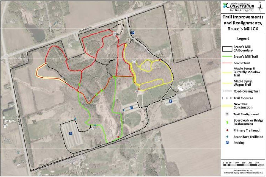 Bruce's Mill Conservation Area Trail Map