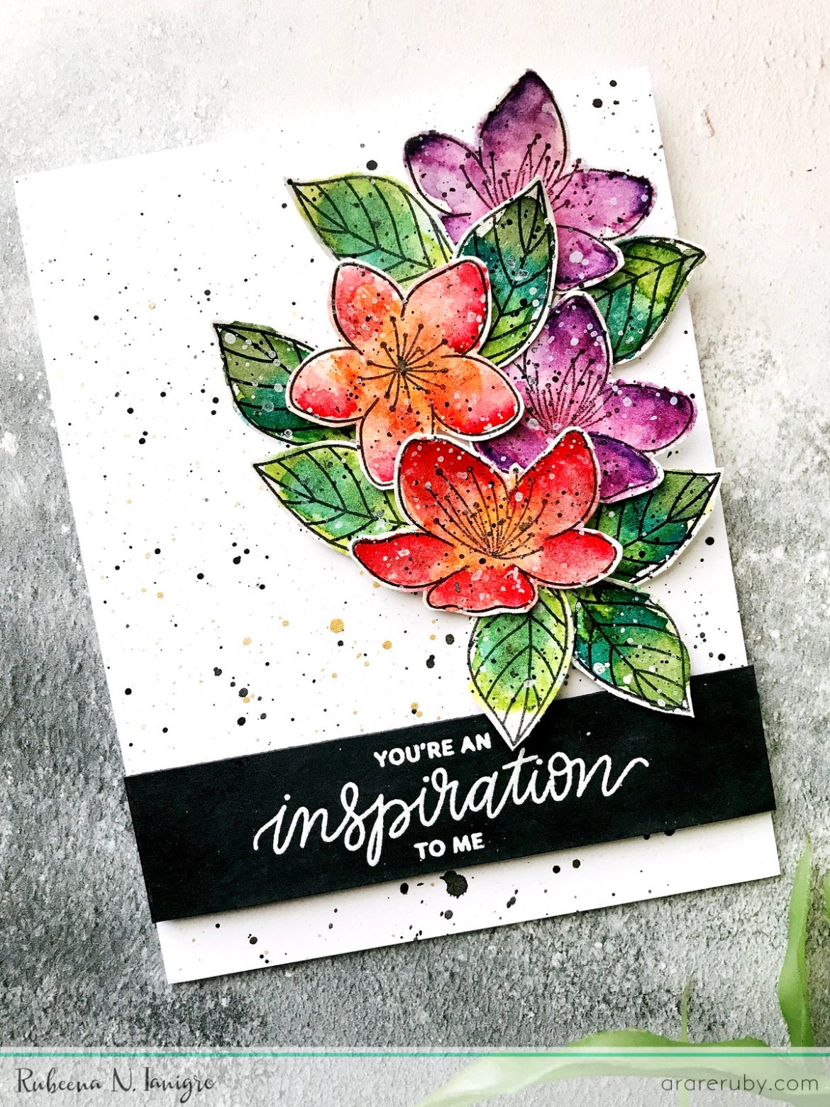 PPP March Blog Hop - Floral Card 1 - Rubeena Ianigro