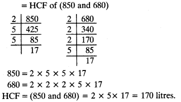 Important Questions for Class 10 Maths Chapter 1 Real Numbers - CBSE